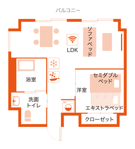 ファミリールーム【1LDK】